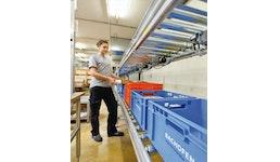 Fördersysteme für Behälter, Stückgüter, Kartons